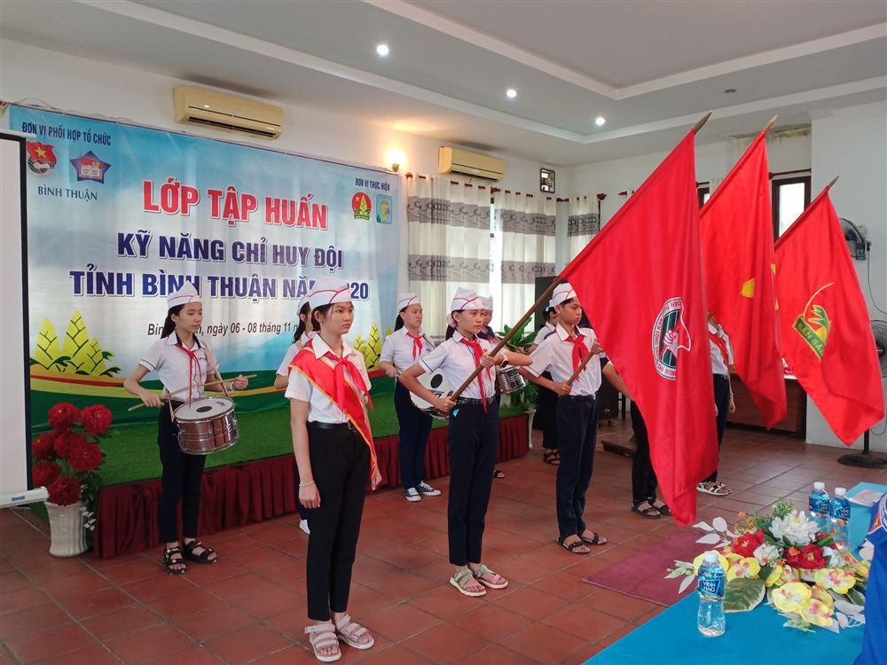 Bình Thuận: Khai mạc lớp Tập huấn Kỹ năng Chỉ huy Đội năm 2020