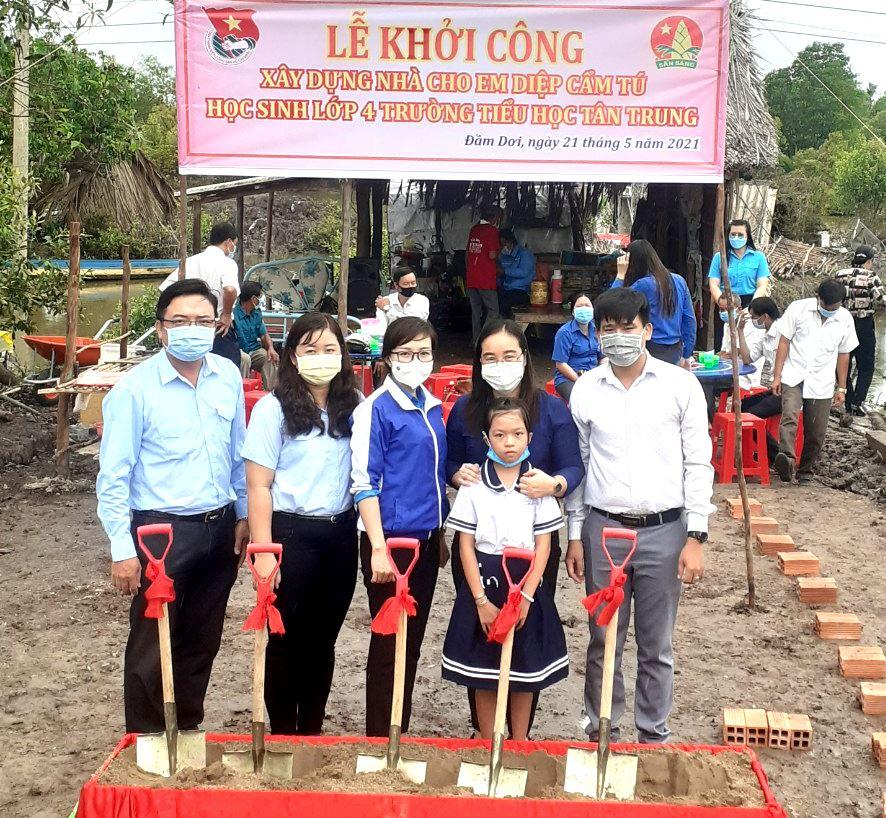 Cà Mau: Hội đồng Đội tỉnh khởi công xây dựng Nhà Khăn quàng đỏ  cho học sinh nghèo