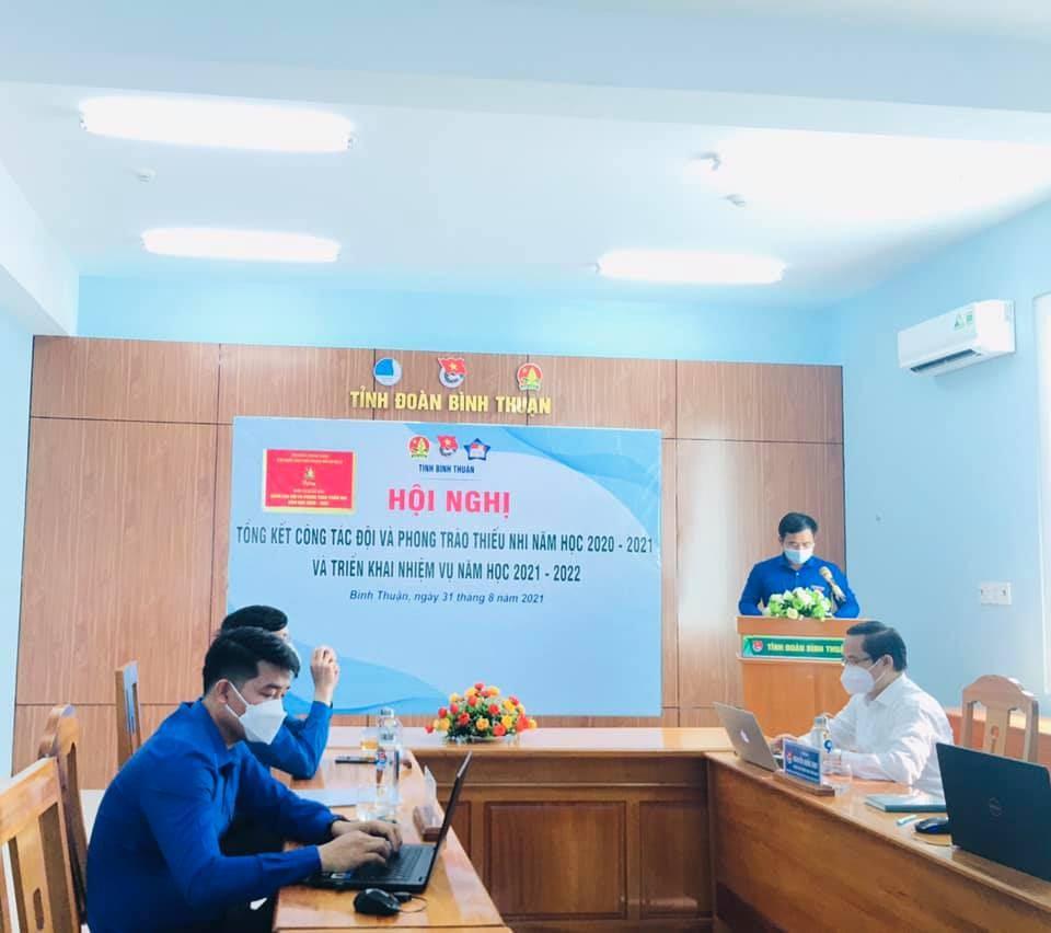 Hội đồng Đội tỉnh Bình Thuận tổ chức Hội nghị trực tuyến Tổng kết công tác Đội và phong trào thiếu nhi năm học 2020 – 2021