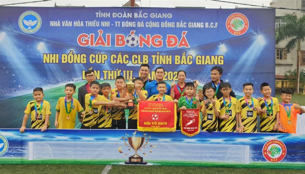 Bắc Giang: Tổ chức thành công Giải bóng đá Nhi đồng Nhà Văn hóa Thiếu nhi tỉnh lần thứ III năm 2021.