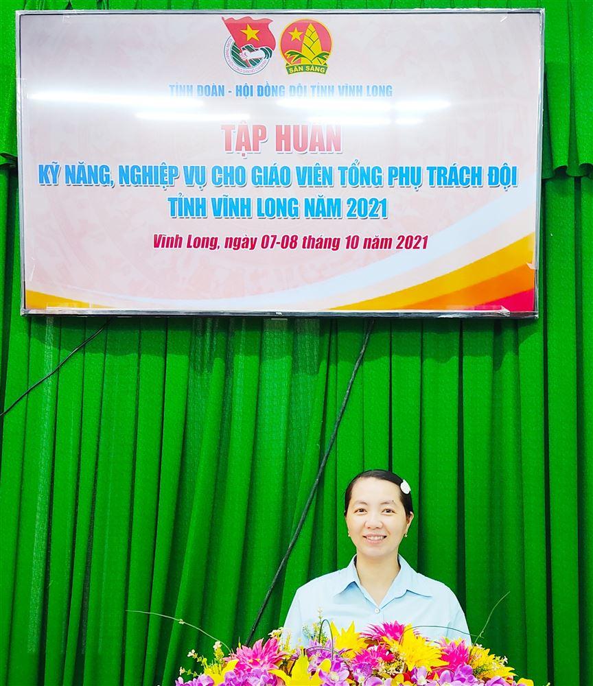 Tập huấn trực tuyến  Kỹ năng nghiệp vụ Giáo viên Tổng phụ trách Đội và cán bộ phụ trách thiếu nhi tỉnh Vĩnh Long năm 2021