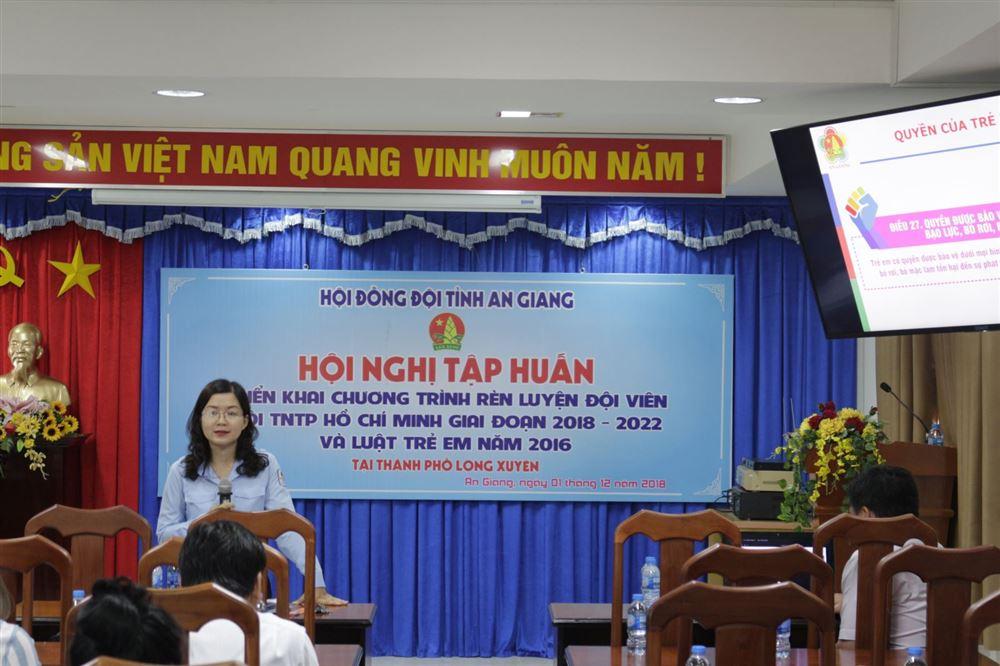 Hội đồng Đội tỉnh An Giang triển khai Chương trình rèn luyện Đội viên giai đoạn 2018 - 2022