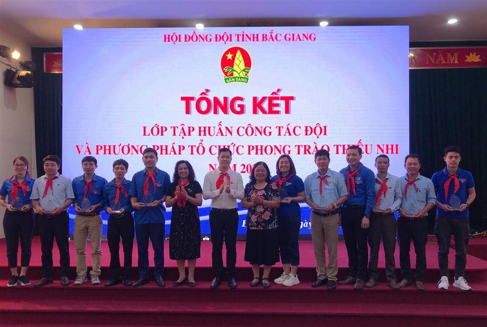 Bắc Giang: Tổ chức Chương trình tập huấn Công tác Đội và phương pháp tổ chức phong trào thiếu nhi năm 2021.