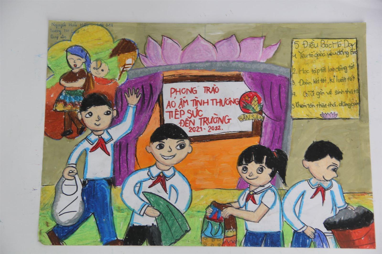 Vĩnh Phúc tổ chức cuộc thi vẽ tranh 80 mùa hoa Đội ta lớn lên cùng đất nước