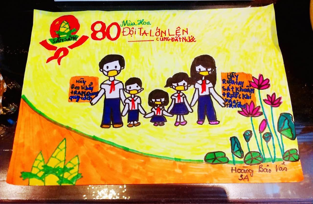 Hà Tĩnh: Mỗi đội viên, thiếu nhi một việc làm tốt, một bức tranh đẹp, một thông điệp ý nghĩa mừng sinh nhật Đội