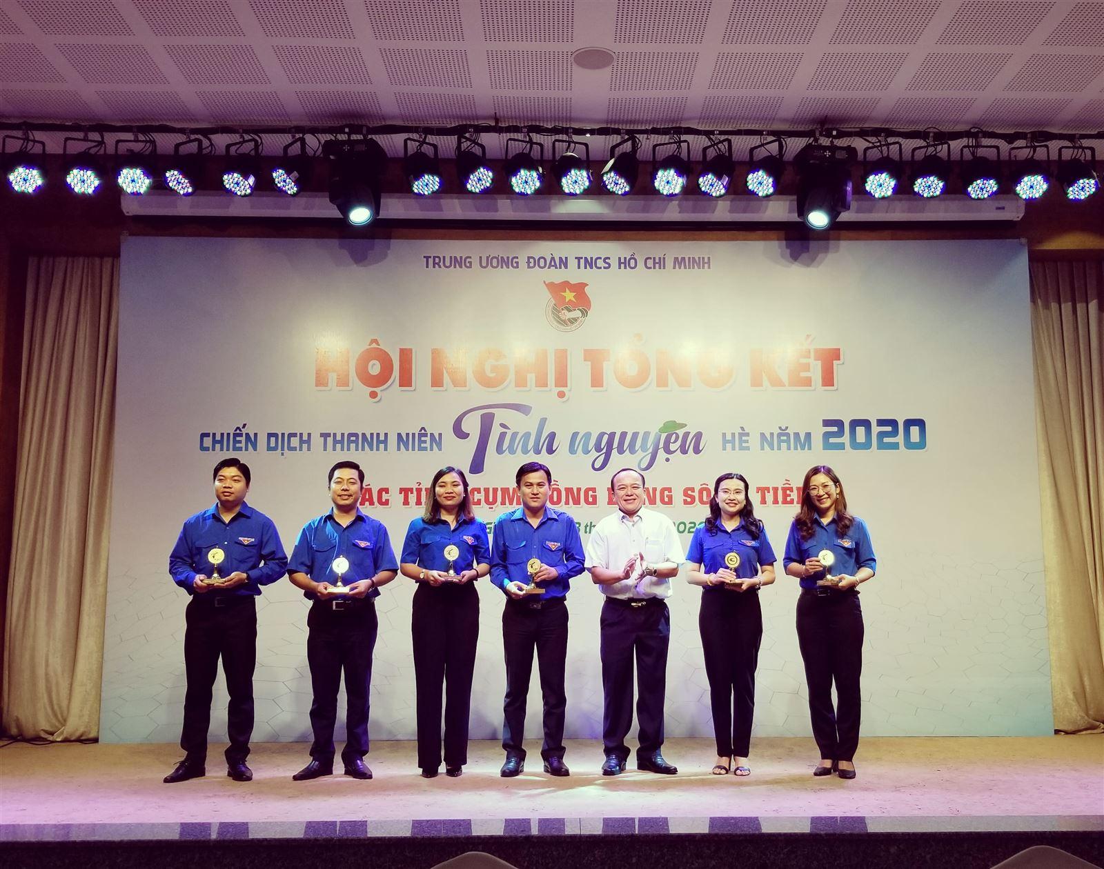 Hội nghị tổng kết chiến dịch Thanh niên tình nguyện hè các tỉnh Cụm đồng bằng sông Tiền năm 2020