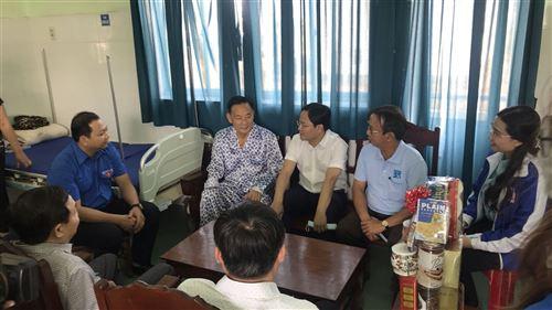 Đồng chí Nguyễn Anh Tuấn, Bí thư Thứ nhất Trung ương Đoàn đến thăm và chúc Tết tại Đồng Tháp