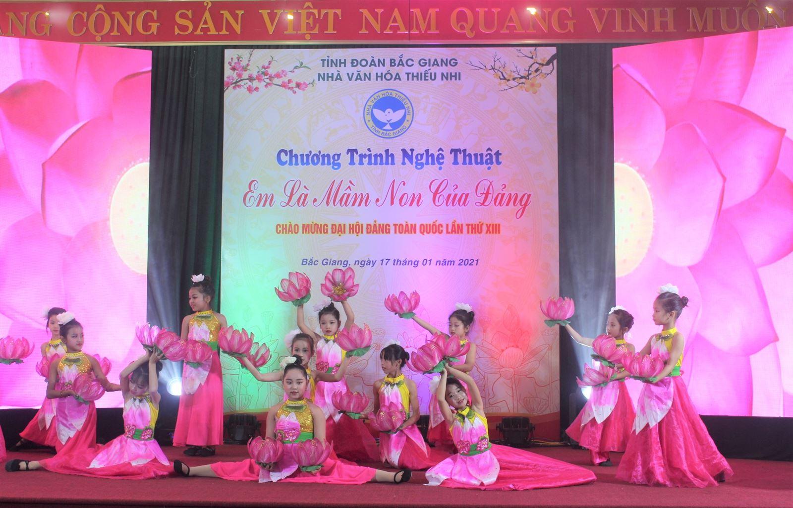 Bắc Giang: Chương trình Nghệ thuật Em là mầm non của Đảng