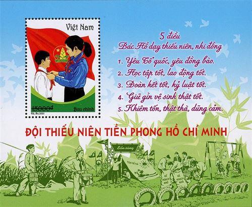 """Phát hành bộ tem """"Đội Thiếu niên Tiền phong Hồ Chí Minh"""""""