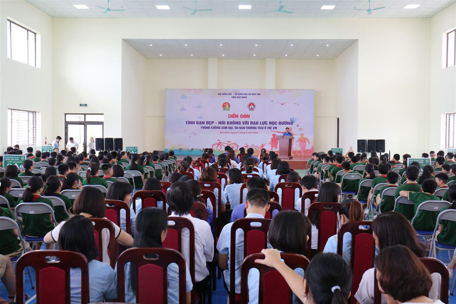 Bắc Ninh tổ chức Diễn đàn Xây dựng tình bạn đẹp - Nói không với bạo lực học đường năm 2020
