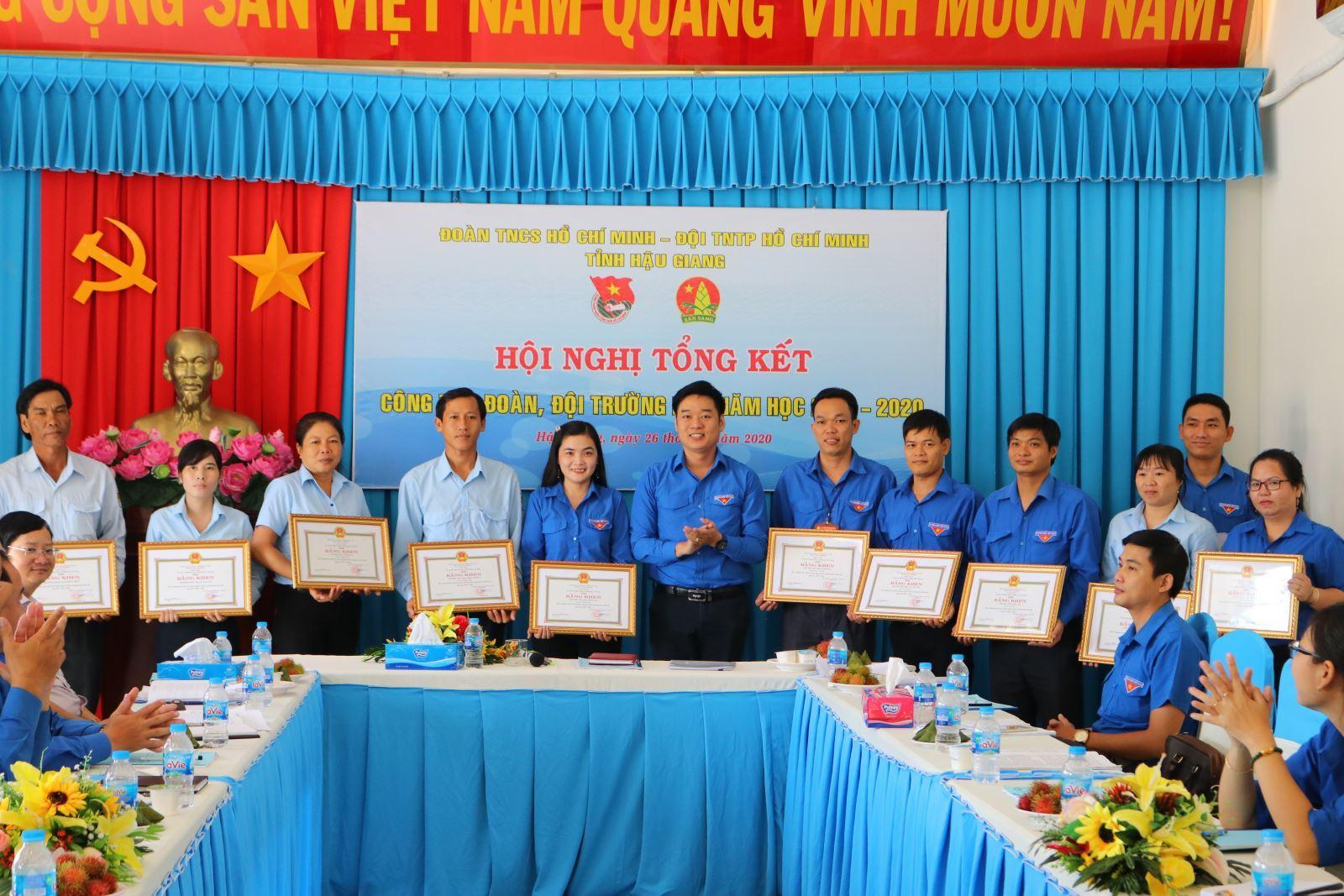 Hậu Giang tổng kết công tác Đoàn, Đội trường học năm học 2019-2020