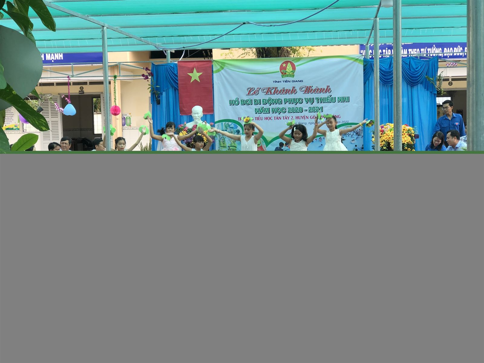 Tiền Giang: Lễ khánh thành Hồ bơi di động cho thiếu nhi và họp lệ Hội đồng Đội lần I, năm học 2020 - 2021