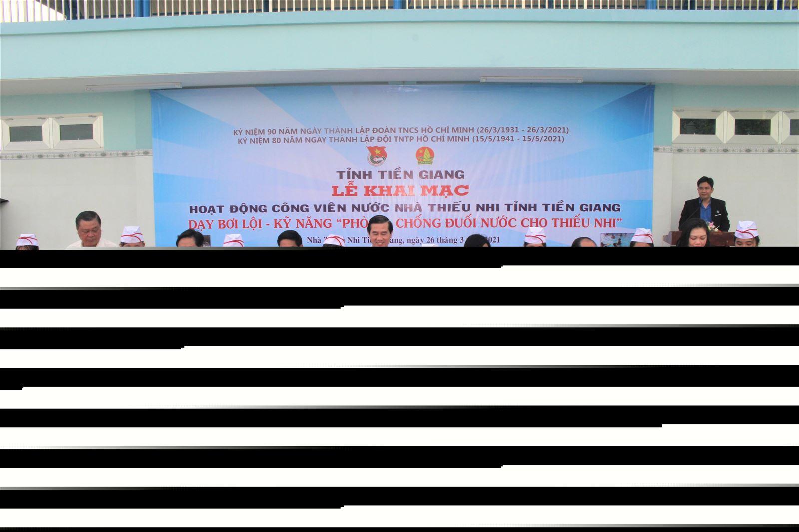 Khai mạc Công viên nước Nhà Thiếu nhi tỉnh Tiền Giang