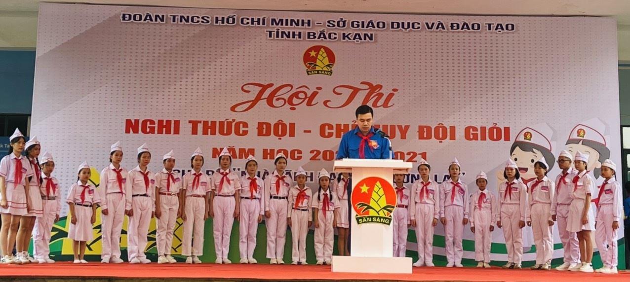 """Bắc Kạn tổ chức Hội thi """"Nghi thức Đội - Chỉ huy Đội giỏi"""" cấp tỉnh, năm học 2020-2021"""