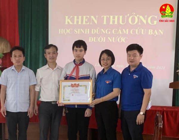 Bắc Ninh: Tuyên dương học sinh dũng cảm cứu người