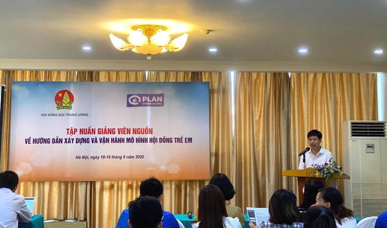 Tập huấn giảng viên nguồn về xây dựng và vận hành mô hình Hội đồng trẻ em