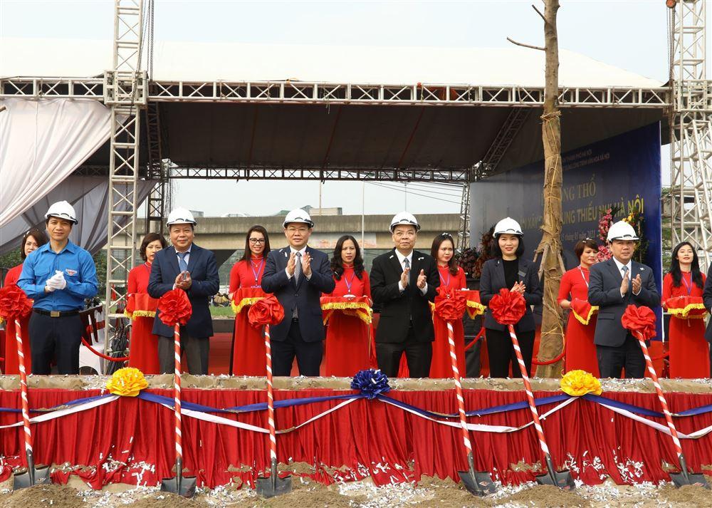 Lễ Động thổ dự án xây dựng Cung Thiếu nhi Hà Nội