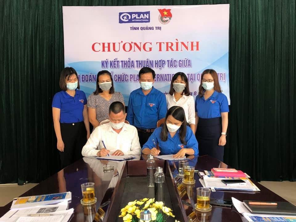 Quảng Trị: Ký kết thỏa thuận hợp tác giữa Tỉnh Đoàn và Plan Việt Nam tại Quảng Trị năm 2021