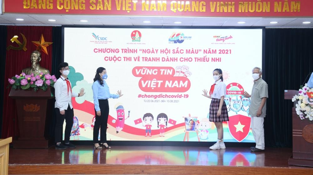 Phát động Ngày hội sắc màu năm 2021, cuộc thi vẽ tranh dành cho thiếu nhi với chủ đề Vững tin Việt Nam