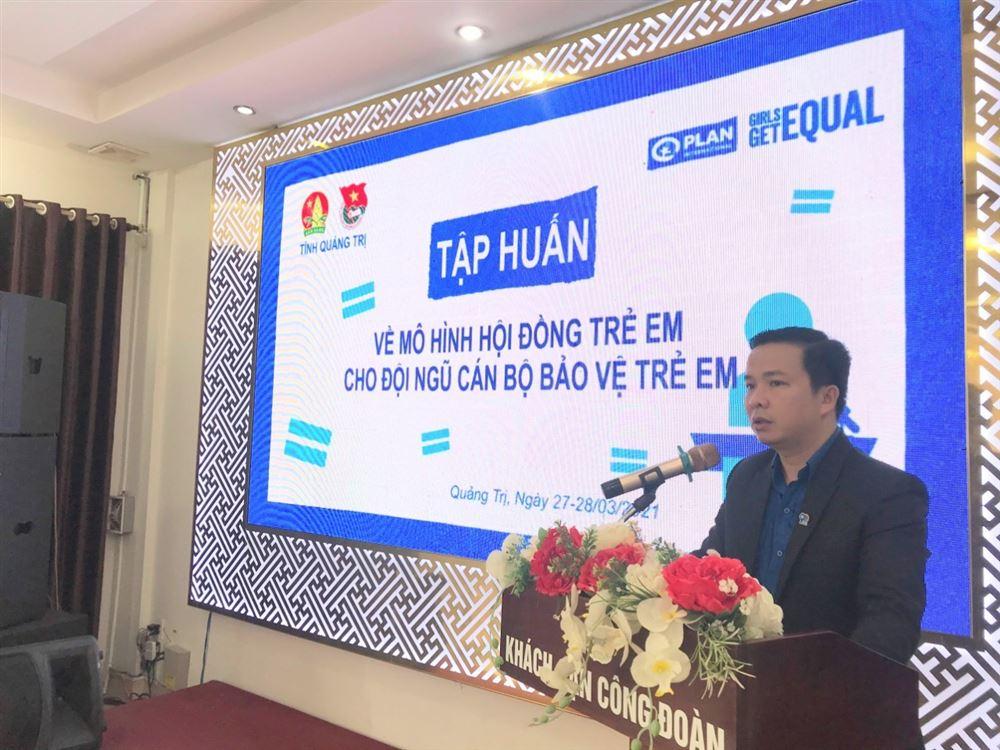 Quảng Trị: Khai mạc lớp tập huấn cho đội ngũ cán bộ bảo vệ trẻ em