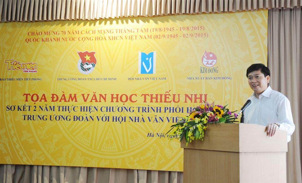 Hội nghị sơ kết 2 năm thực hiện chương trình liên tịch  với Hội Nhà văn Việt Nam