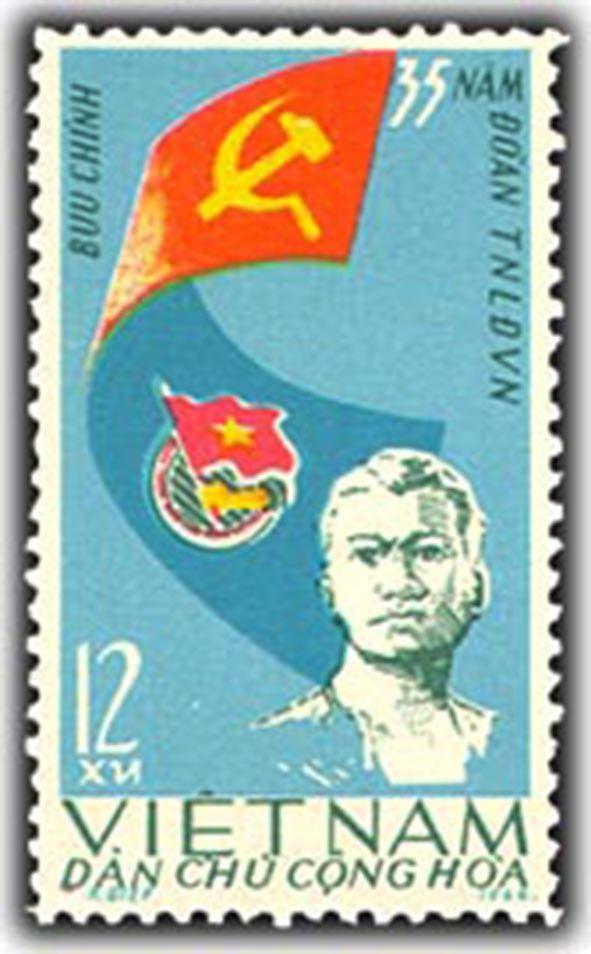 Hình ảnh Đoàn Thanh niên Cộng sản Hồ Chí Minh trên tem Bưu chính