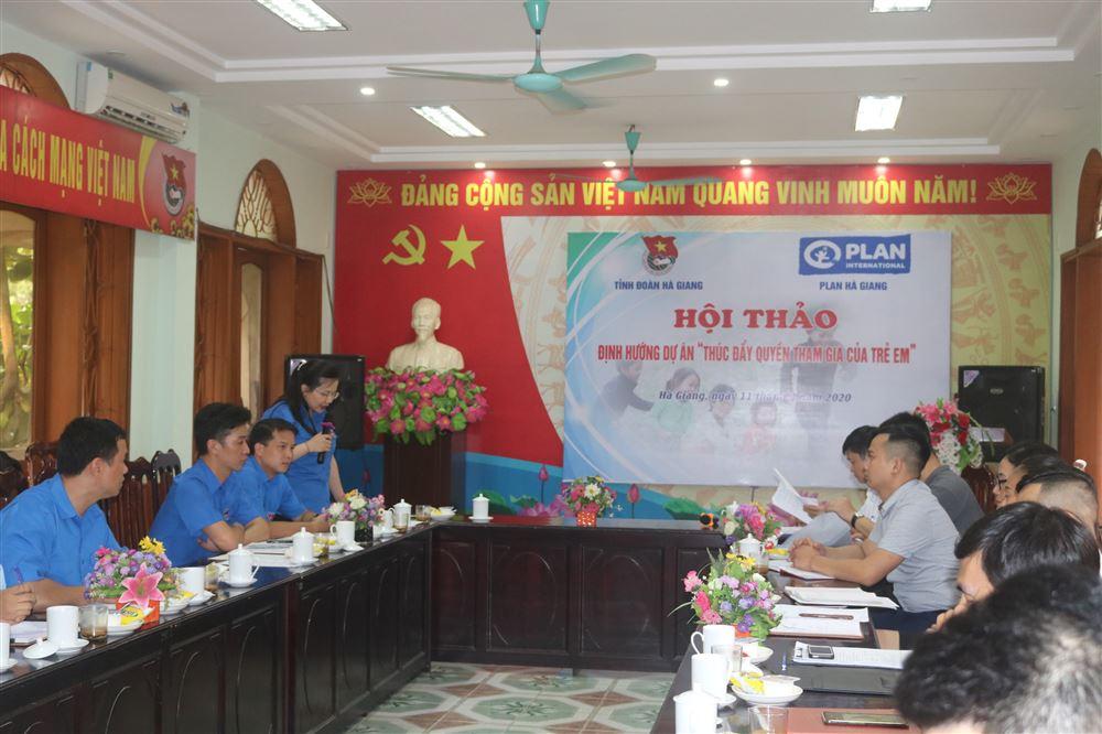 Hà Giang: Hội Thảo Định Hướng Dự Án Thúc Đẩy Quyền Tham Gia Của Trẻ Em