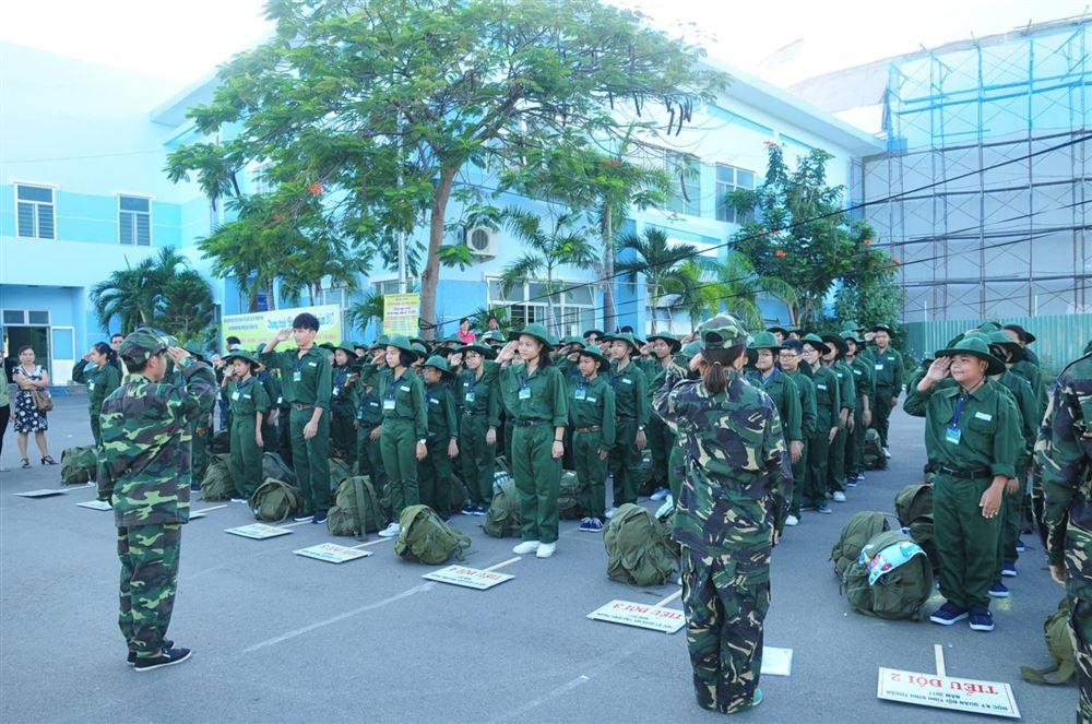 Bình Thuận: 103 chiến sĩ nhí xuất quân trong Học kì quân đội – năm 2017