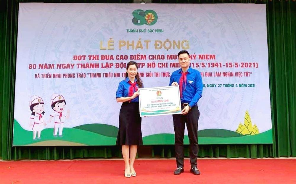 Hội đồng Đội tỉnh Bắc Ninh triển khai công trình măng non: Trang bị giường tầng cho hệ thống trường học bán trú và thiếu nhi có hoàn cảnh khó khăn