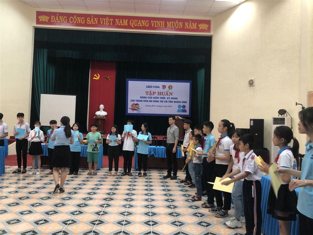 Quảng Bình: Tập huấn kỹ năng truyền thông cho thành viên Hội đồng trẻ em tỉnh Quảng Bình.