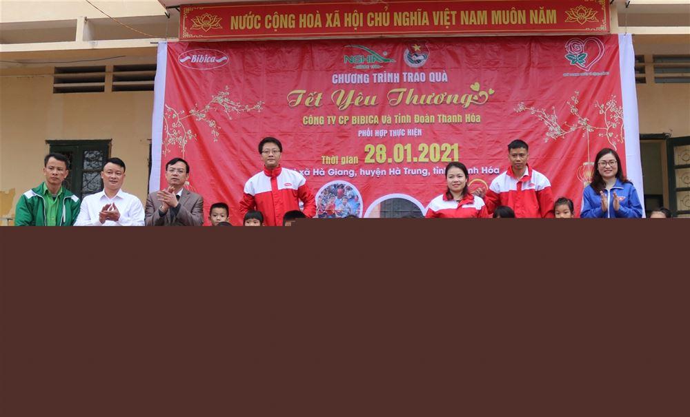 """BTV Tỉnh đoàn - Hội đồng Đội tỉnh Thanh Hóa tổ chức chương trình """"Tết yêu thương"""" tại huyện Hà Trung"""