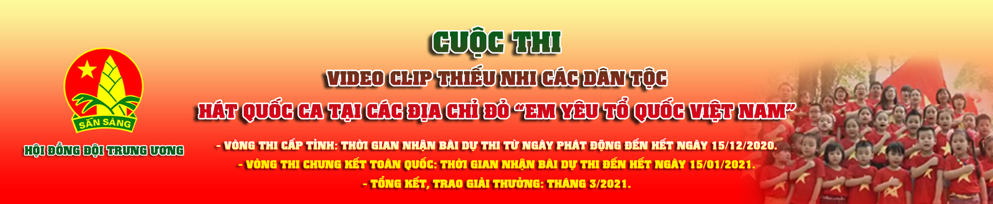 Banner MV hát quốc ca tại địa chỉ đỏ